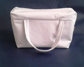 Lunch Bag T�rmica GG ecocouro branco
