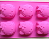 Forma de Silicone Hello Kitty!