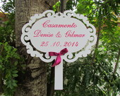 Placa Indicativa Casamento C/ Data