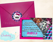 Convite Retangular - Monster High