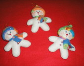NATAL2010: Boneco de Neve P 4 unid.
