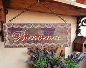 Placas de boas-vindas/Welcome