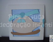 (DO 0027) Quadro decorativo helic�ptero