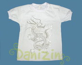 T-Shirt Beb e Infantil DRAGO CINZA ESV