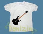 T-Shirt Beb e Infantil  BLACK GUITAR