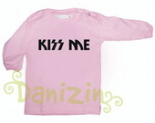 T-Shirt Beb Manga Comprida KISS ME