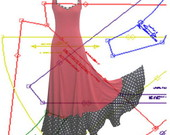 Molde saia, batas, vestidos, blusas...
