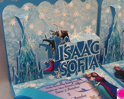 Lindos Convites Pop Up 3D Frozen -Mod 2