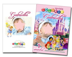 Kit Revista Princesas Baby + giz de cera