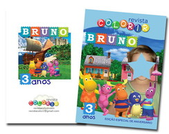 Kit Revista Backyardigans + Giz de cera