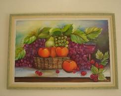 Pintura em Tela - Cesta de Frutas