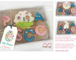 Kit P�scoa de biscoitos decorados