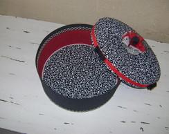 caixa redonda em tecido
