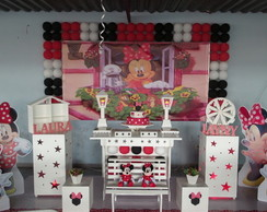 Decora��o Clean Tema Minnie Vermelha