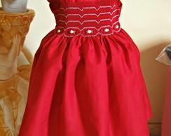 Vestido vermelho de abinha