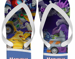 Chinelo Angry Birds Transformers.