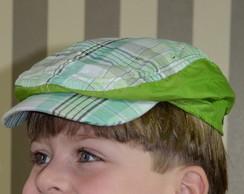 914ca5edf57e6 ... Boina Italiana Infantil Xadrez Verde