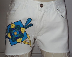 Lindo Shorts Customizado e Pintado � M�o