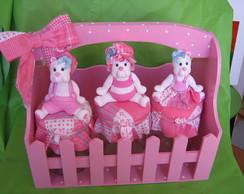 Kit de Higi�ne ursinhas rosa