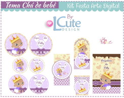 Kit Festa - Arte digital Ch� de Beb�