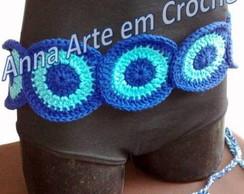 Cinto de Croch� (Azul Claro e Escuro)