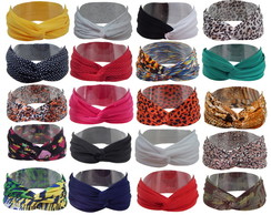 Turbante Faixa Headband 10 PE�AS