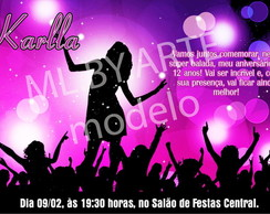 "Convite e Tag Digital Balada ""So Pink"""
