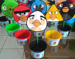 Centro de mesa Angry birds kit 10 pe�as