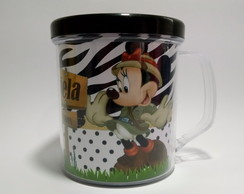 Minnie Safari Caneca Acr�lica