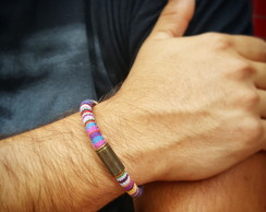 PULSEIRA BOHO COLORS RAINBOW ROLI�A