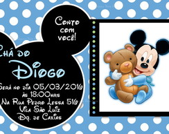 Convite Digital Mickey Baby Disney