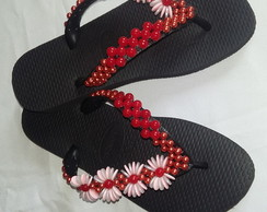 Chinelo bordadas
