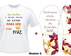 Kit Dia das M�es Chinelo + Camiseta