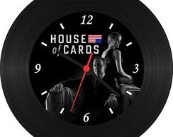 Rel�gio de Vinil - House Of Cards