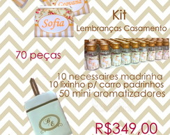 Kit Lembran�as Casamento - 70 p�