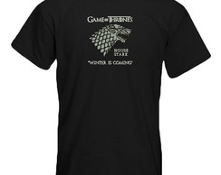Camiseta Bordada Game of Thrones - Stark