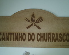 Placa Churrasqueira