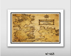 Quadro 60x40cm Westeros Game Of Thrones