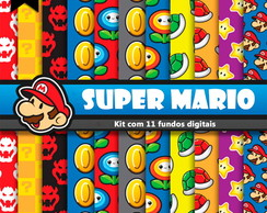 Kit de fundos Digital - Super Mario