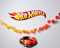 Lumin�ria HOT WHEELS kit decora��o festa