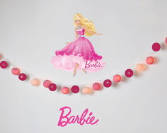 Lumin�ria BARBIE decora��o kit festa