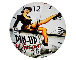 Rel�gios de Parede 30cm Pin Up Girls