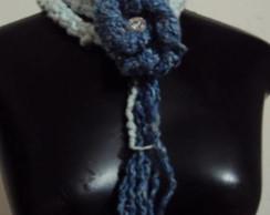 Cord�o rabo de gato com flor azul