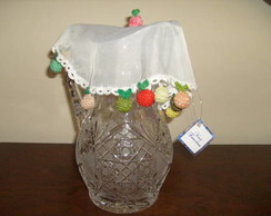 Cobre jarra com croch�