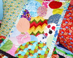 Tapete Patchwork Colorido Bolhas