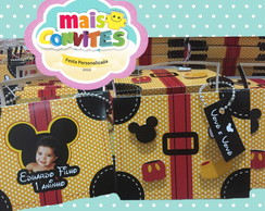 CONVITE MALETA DO MICKEY
