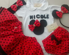 Conjunto Minnie completo 5 pe�as