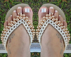 Chinelo Bordado com P�rolas