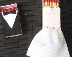 Kit Noiva e Noivo Caixa de F�sforo