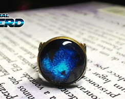 Anel Blue Galaxy Bronze Antigo 16mm